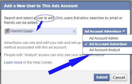 How do I give someone else access to my Facebook advertising account?