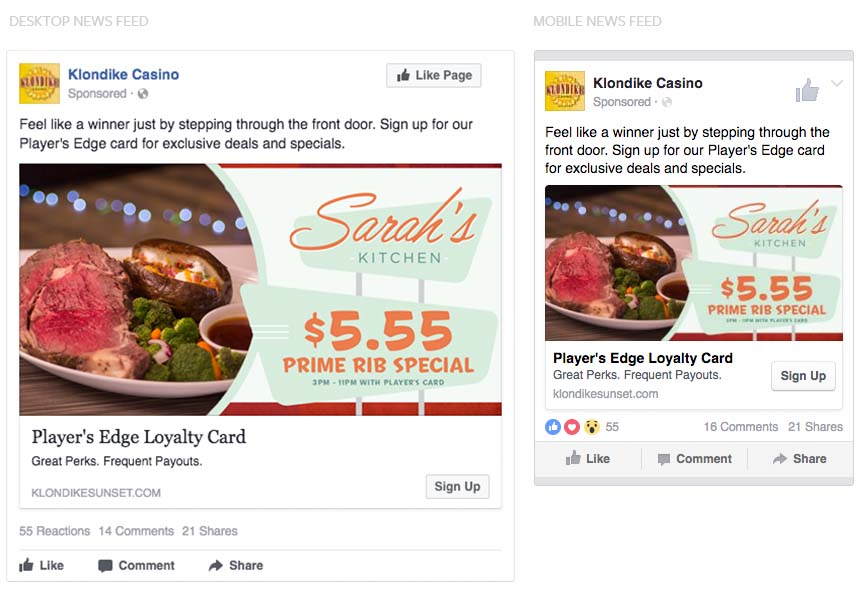 desktop vs mobile facebook ads comparison
