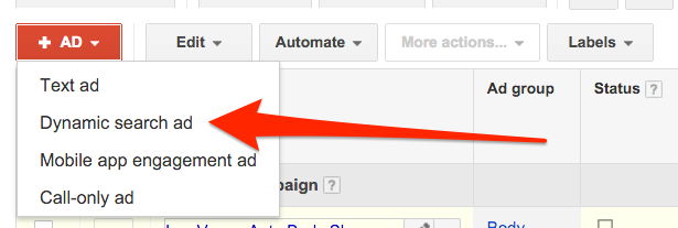 dynamic ad creation google adwords