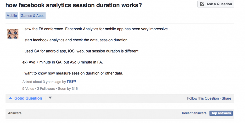facebook analytics session duration